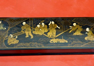Lacquered chinoiserie box. c.1900