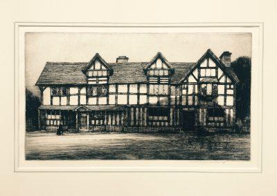 Mortimer Luddington Menpes (1855-1938) Shakespeare's Birthplace, Stratford