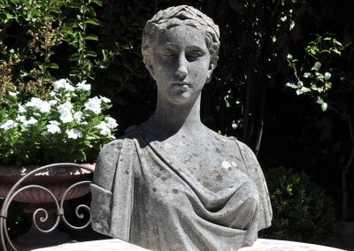 A reconstituted stone bust, English circa 1920.