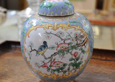 A Cantonese enamel ginger jar Circa 1900.