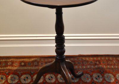 A Geo III mahogany tilt top table.