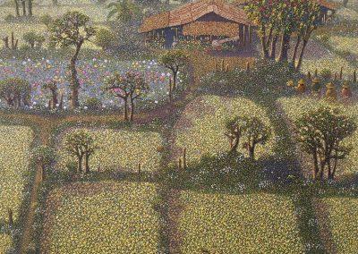 Boonnam Sasood (b.1982 Thailand). Oil on canvas. 100x119cm
