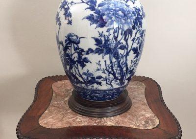 A Japanese Blue and White Lidded Ginger Jar c.1900