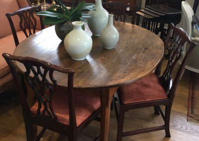 A French Provincial Oval Poplar Table c.1840