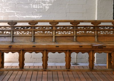 A Chinese elm bench c.1920.