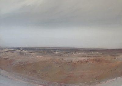 """Timothy John (b.1958) """"Lake View IX"""" 1983 80x80cm."""