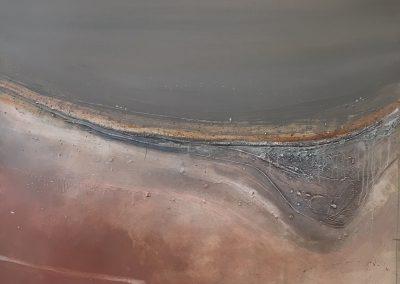 "Timothy John (b.1958) ""Sunlit Salt Lake"" 1985. 122x122cm"