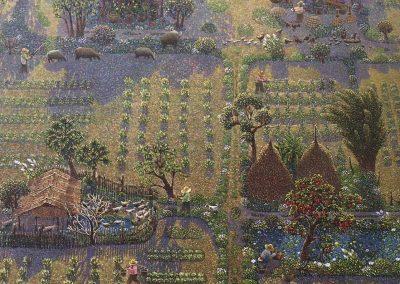Boonnam Sasood (b.1982 Thailand). Oil on canvas. 199x127cm