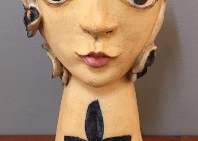 "Jo Caddy ""Head Vase"" Height 28cm"
