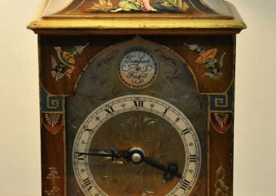 Chinoiserie lacquered Clock c.1920.