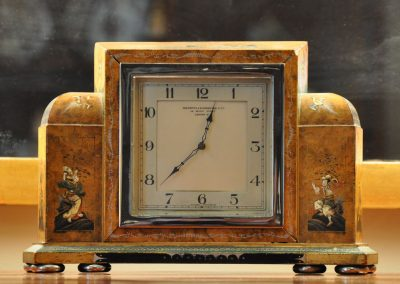 Art Deco Mantle Clock with Chinoiserie decoration c.1930.