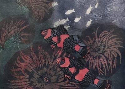 Lesbia Thorpe (1919-2009) Sea Anemone 6/12 39X34cm