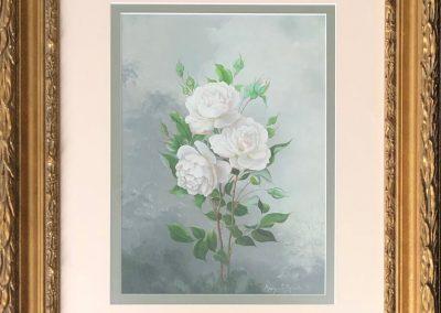 Margaret Rymill (1913-2004) Roses 1971 Oil 29x21cm.