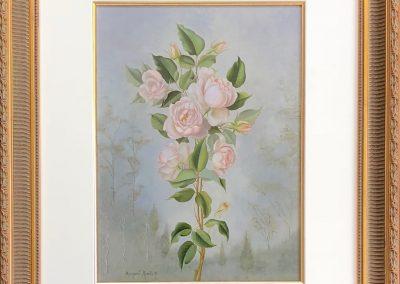 Margaret Rymill (1913-2004) Roses 1976 38x28cm Oil.