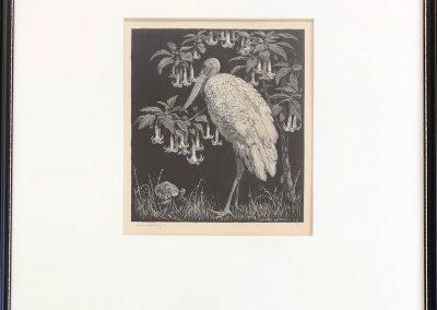 Sir Lionel Arthur Lindsay (1874–1961) 'Philosophy' Wood engraving 17x15cm Ed. 59