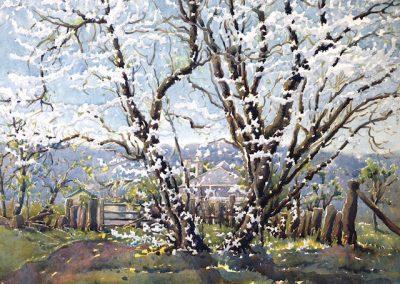 """Nora Hutchinson (1908-72) """"Hutchinson's Farm"""". Watercolour 43x49cm"""