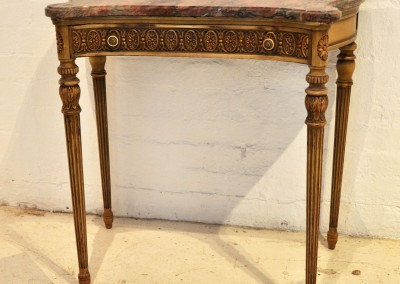 A painted & gilt console table by Henry Fuldner & Sons New York c.1920.