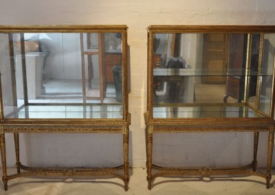 A pair of French painted & gilt cabinets c.1920.
