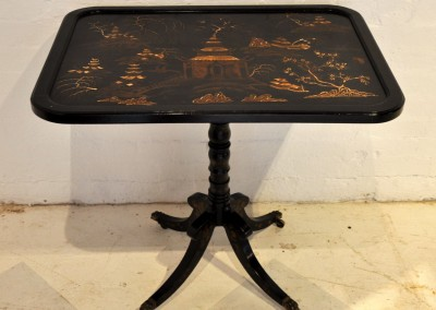 An English lacquered chinoiserie table c.1840.