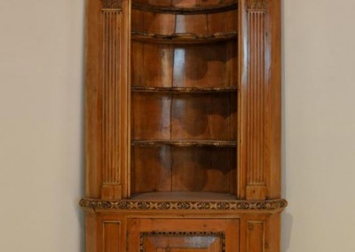 English Pine Corner Cupboard